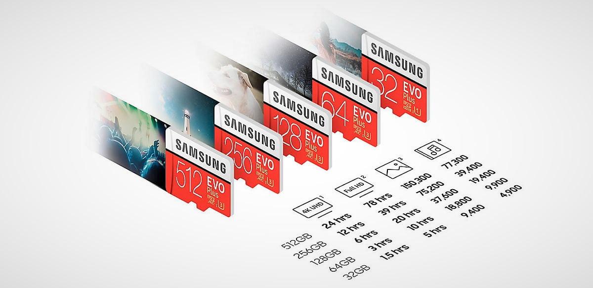 👉🏼 Así es la gama de tarjetas Micro SD Samsung Evo Plus