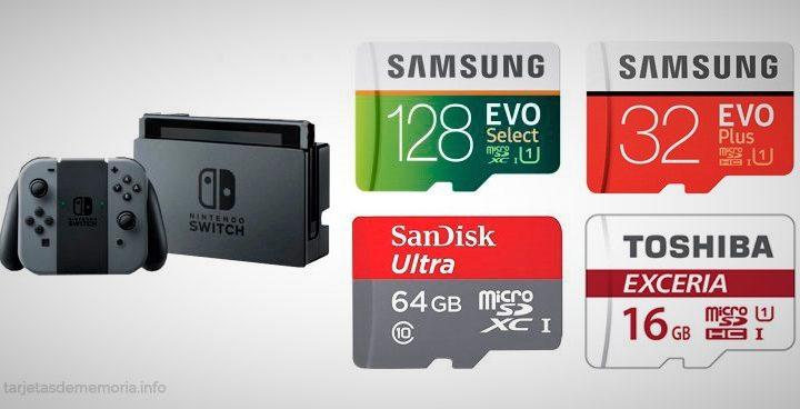 🥇 Análisis de las mejores tarjetas micro SD para Nintendo Switch y Switch Lite