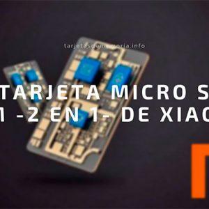 Xiaomi patenta una tarjeta micro SD y SIM a la vez