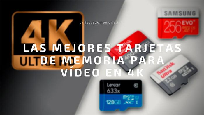 Guía: las mejores tarjetas de memoria para grabar 【vídeo 4K】 🎬💾