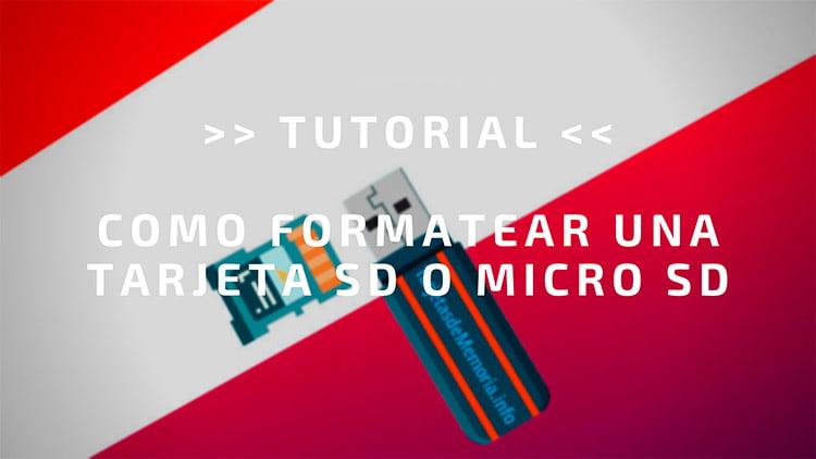 TUTORIAL ✅ como FORMATEAR tarjetas de memoria SD y micro SD