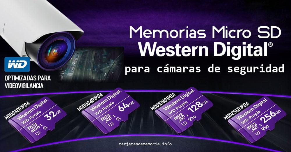 Micro SD Western Digital Purple: tarjetas de memoria para cámaras de vigilancia