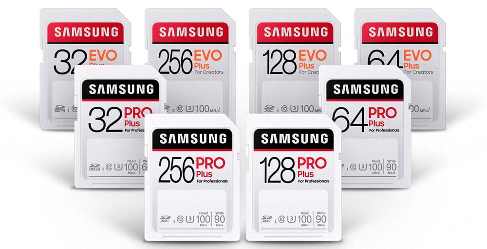 Nuevas tarjetas de memoria SD Samsung PRO Plus y SD EVO Plus